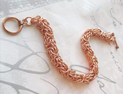 chunky Copper tryzantine bracelet