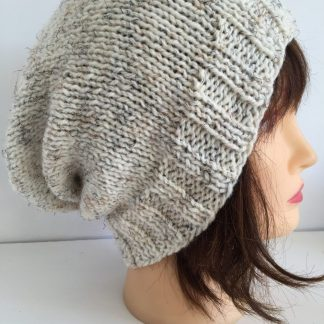 Ivory Slouchy Beanie Hat