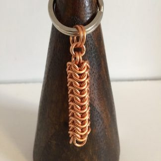 Chunky Copper Roundmaille Keyring