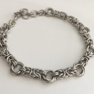 Stainless Steel Byzantine Love Knot Bracelet