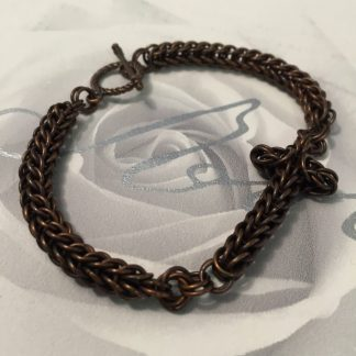 Antique Copper Cross Bracelet