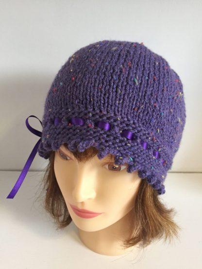 Mauve Gatsby Beanie Hat