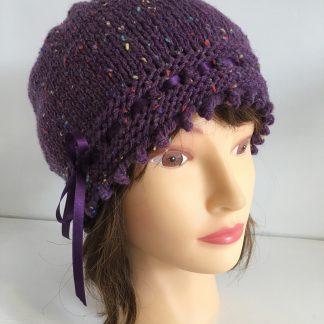 Purple Tweed Gatsby Hat
