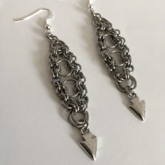 Steel bicycle Earrings