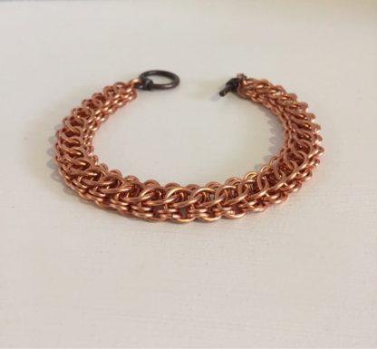 Copper Wide chain link cuff