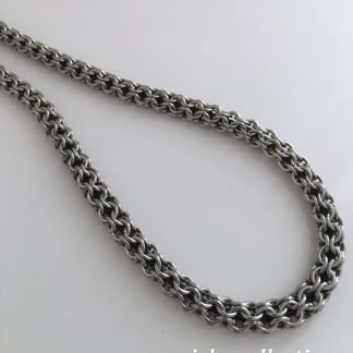 Steel Inverted Roundmaille Chainmaille Necklace