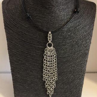 black Steel tassel necklace