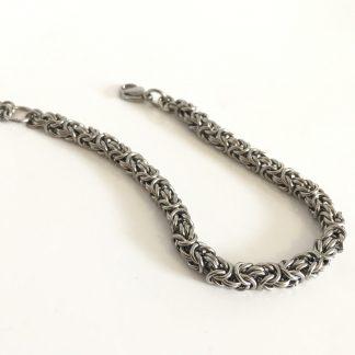 steel byzantine bracelet women