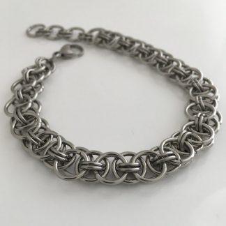 steel helm weave bracelet