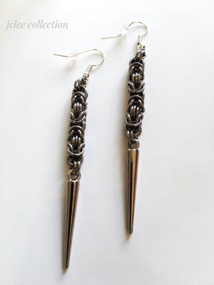 steel spike earrings