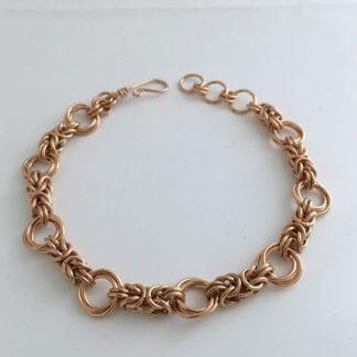 Bronze Byzantine Love Knot Bracelet
