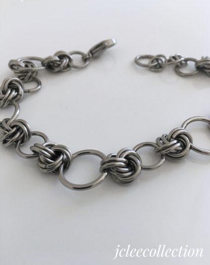 Stainless Steel Forever Love Knot Bracelet