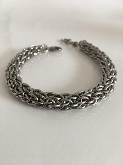 Chunky Candy Cane Bracelet Steel