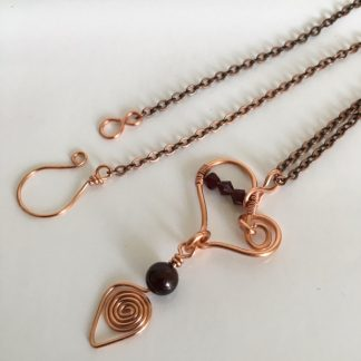 Copper Heart Pendant Necklace