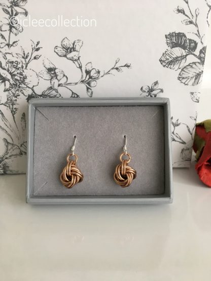 Pure Bronze Infinity Knot Earrings