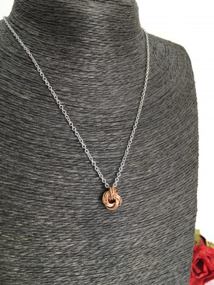 Bronze-infinity-love-knot-necklace