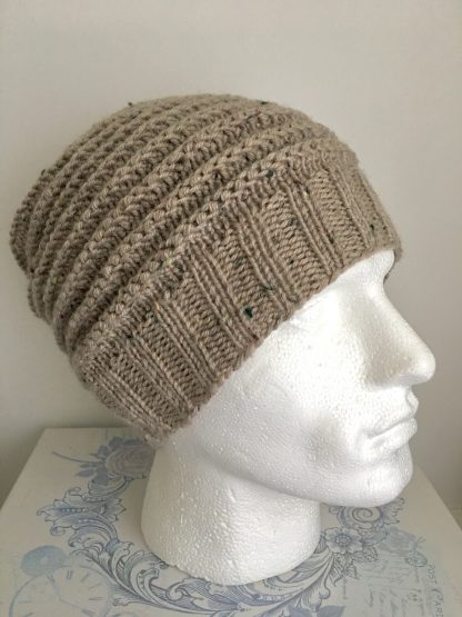 Mens Light Brown Beanie