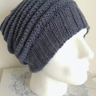 Mens Denim Blue Slouchy Beanie