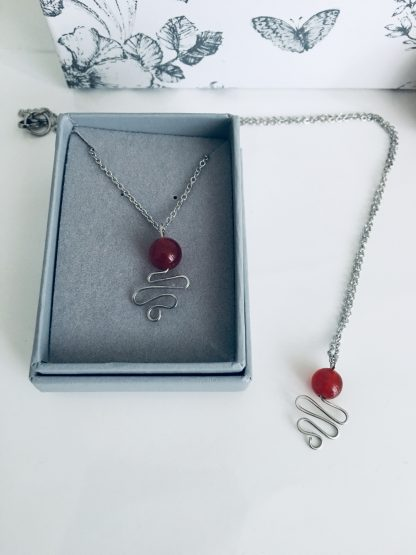 Red Ruby Gemstone Necklace