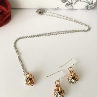 Bronze-Silver-Infinity-Love-Knot-Jewellery-Set