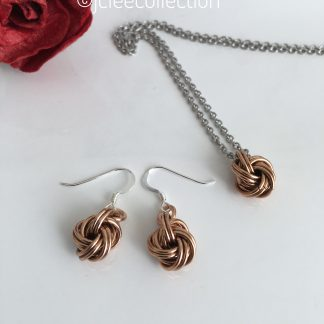bronze-infinity-knot-jewellery-set
