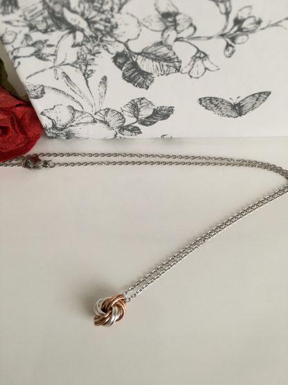 Bronze-Silver-Infinity-Love-Knot-Jewellery-Set
