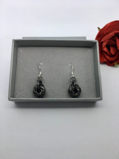 Antique-Black-Iron-Infinity-Knot-Earrings