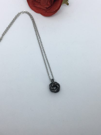 Antique-Black-iron-infinity-knot-necklace