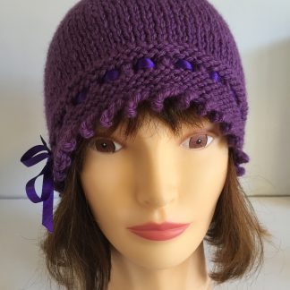 Mulberry Purple Gatsby Beanie Hat
