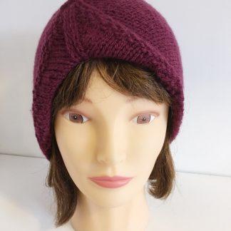 Burgundy Turban Beanie Hat