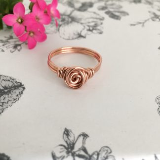 Copper-rose-swirl-wire-wrapped-ring