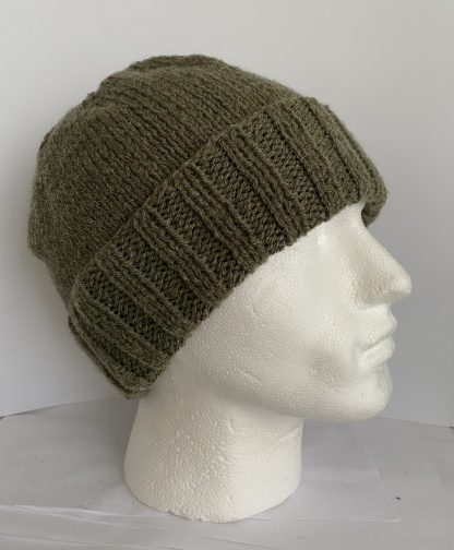 Mens-sage-green-knitted-beanie-hat