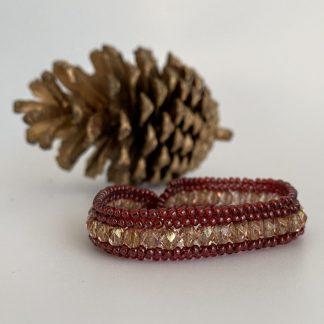 Red-Gold-Herringbone-Bracelet