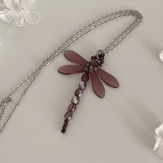 Amethyst-beaded-dragonfly-pendant-necklace