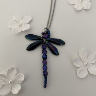 petrol-blue-iris-dragonfly-pendant-necklace