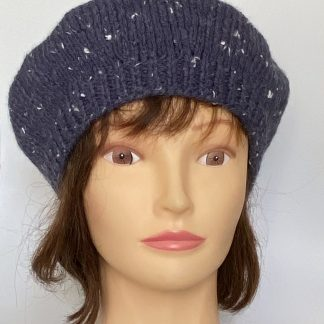 Airforce-blue-classic-knitted-beret