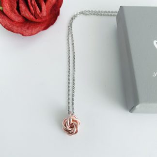 Rose-Gold-Love-Knot-Rosette-Swirl-Pendant-Charm_necklace